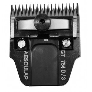 Aesculap GT754D DLC 3mm Chromuoto anglinio plieno kirpimo galvutė