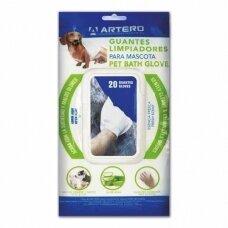 Artero Pet Bath Gloves - pirštinės/servetėlės kailio valymui