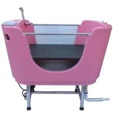 Hydro Therapy Dog Spa Pink Tub - profesionali vonia su SPA sistema ir ozono funkcija, rožinė
