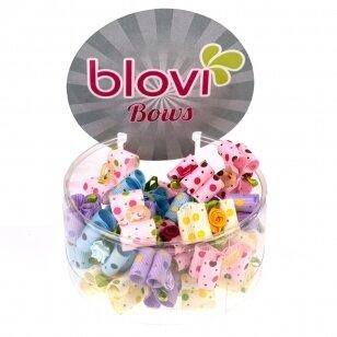 Blovi bantukai 25 vnt. - spalvingi taškuoti su gėle