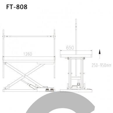 Callisto Pro Stalas su elektriniu pakėlimu, 125cm x 65cm 2