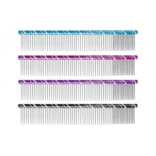 Chadog metalinės šukos 25cm mix dantukai 80/20 - 3 spalvų pasirinkimas
