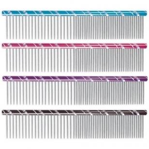 Chadog metalinės šukos 16cm mix dantukai 50/50 - 4 spalvų pasirinkimas
