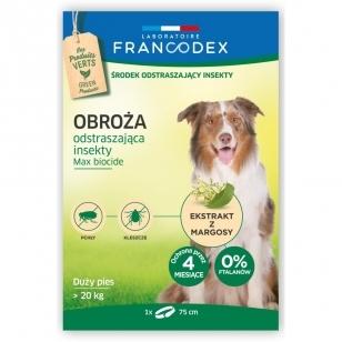 Francodex Repellent Colar - apykaklė nuo erkių ir blusų dideliems šunims, virš 20 kg.
