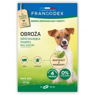 Francodex Repellent Colar - apykaklė nuo erkių ir blusų mažiems šunims, iki 10 kg.
