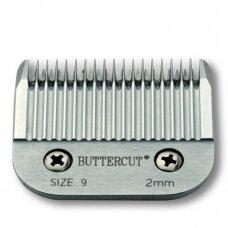 Geib Buttercut Blade SS no. 9 - Nerūdijančio plieno kirpimo galvutė, kirpimo ilgis 2mm