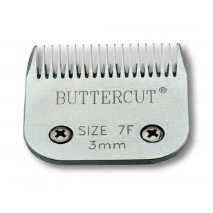 Geib Buttercut Blade SS nr 7F nerūdijančio plieno kirpimo galvutė, kirpimo ilgis 3 mm