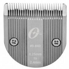 Oster - keičiama kirpimo galvutė Pro 600i - 2,4mm, 1,8mm, 1,2mmm, 0,5mm, 0,25mm.