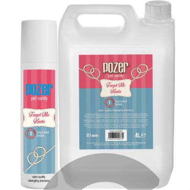 Pozer Forget Me Knots Shampoo šampūnas vidutinio ir ilgo plauko šunims 4L