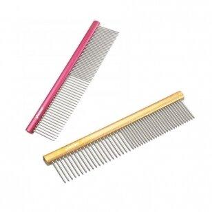 Record Large Metal Comb 25cm - aliuminio šukos sumaišytais dantukų tarpais 50/50