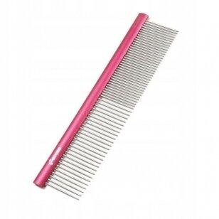 Record Medium Metal Comb 20cm - aliuminio šukos sumaišytais dantukų tarpais 50/50