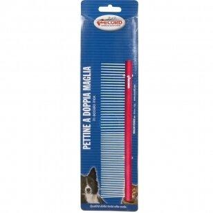 Record Small Metal Comb 15cm - aliuminio šukos sumaišytais dantukų tarpais 50/50