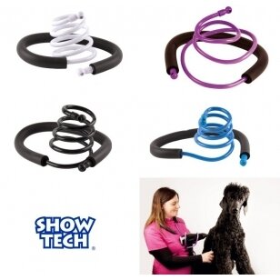 Show Tech - lanksti rankinio džiovintuvo rankena, laikiklis - spalva: mėlyna