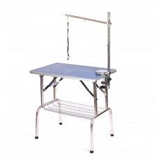 """Kirpimo  staliukas  81x52cm"""" su prailginimo svirtimi ir krepšeliu priedams, aukštis 78cm"""