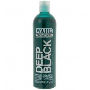 Wahl Deep Black Shampoo - profesionalus šampūnas juodiems ir tamsiems plaukams - Talpa: 500ml