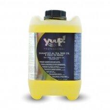 Yuup! Professional Tea Tree and Neem Oil Shampoo - profesionalus šampūnas, atbaidantis blusas, erkes ir kitus vabzdžius. Talpa: 10L