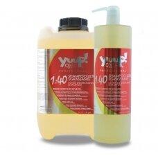 Yuup! Professional Ultra Degreasing Shampoo - profesionalus, efektyviai nuriebalinantis, šampūnas kruopščiam kailio valymui. Talpa: 5L