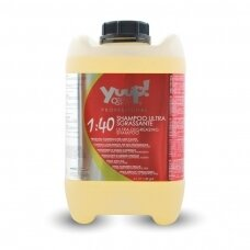 Yuup! Professional Ultra Degreasing Shampoo - profesionalus, efektyviai nuriebalinantis, šampūnas kruopščiam kailio valymui. Talpa: 10L