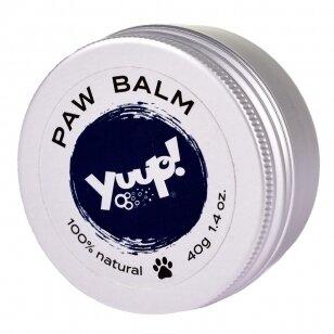 Yuup! Paw Balm 40g - natūralus vaškas gyvūnų letenoms prižiūrėti su taukmedžio sviestu ir simondsijų aliejumi